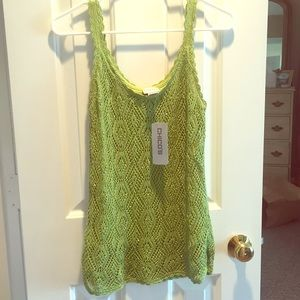 NWT Chico's size 1 S caribou crochet tank